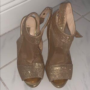 Gold Heels Guess